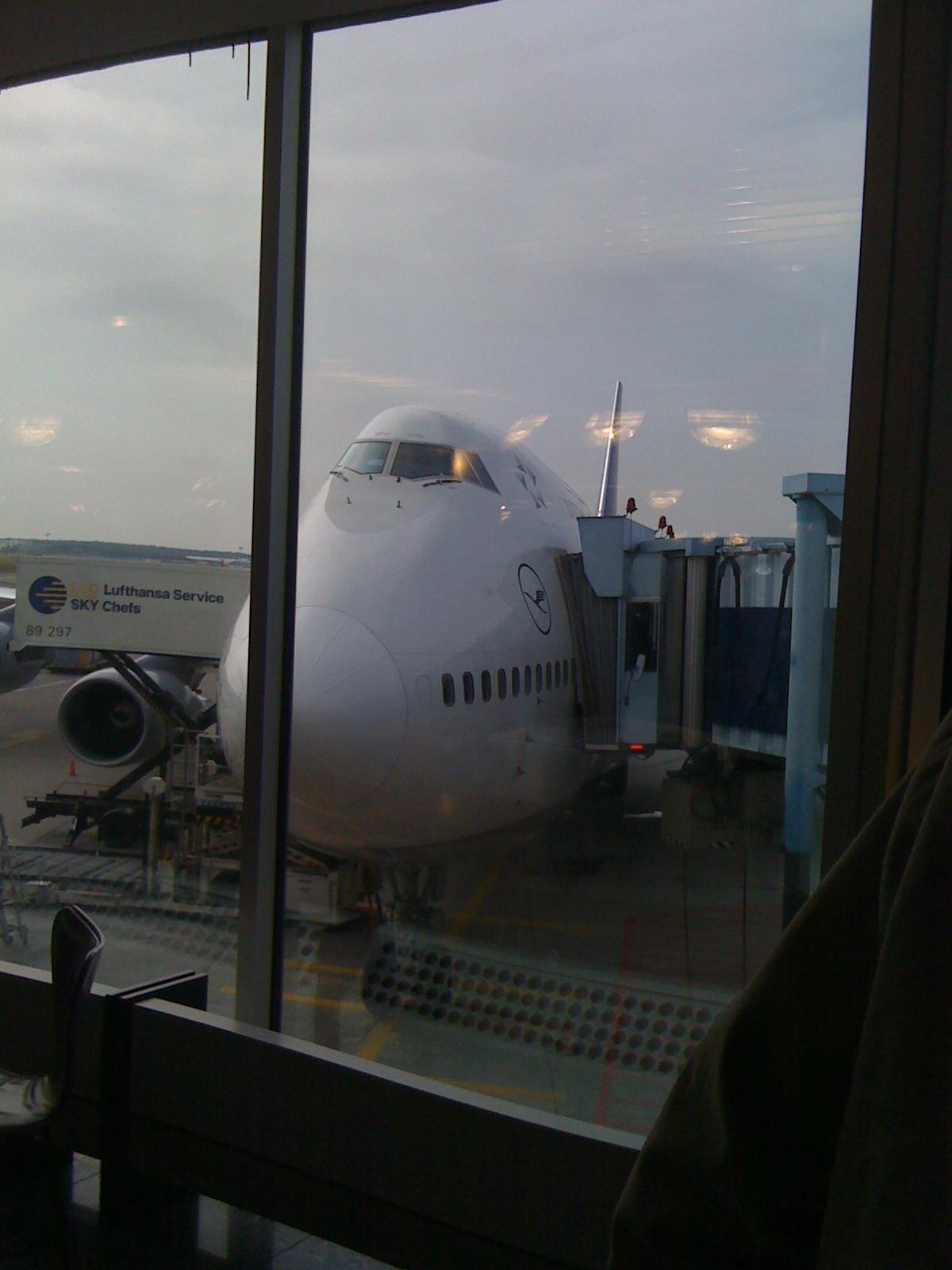 747 in Frankfurt am Gate
